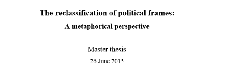 vu amsterdam master thesis