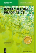 Intercultural Pragmatics